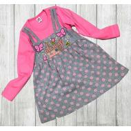 06-0631  Платье для девочки, 3-7 лет, розовый
