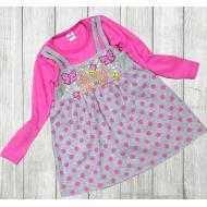 06-0632 Платье для девочки, 3-7 лет, лиловый
