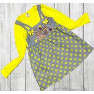 06-0633 Платье для девочки, 3-7 лет, желтый