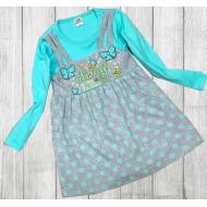 06-0634 Платье для девочки, 3-7 лет, ментоловый