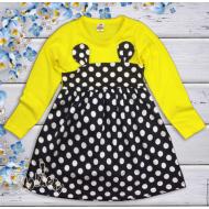 06-06341  Платье для девочки, 3-7 лет, желтый
