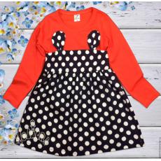06-06342  Платье для девочки, 3-7 лет, коралловый