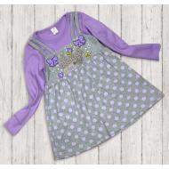 06-0636  Платье для девочки, 3-7 лет, сиреневый