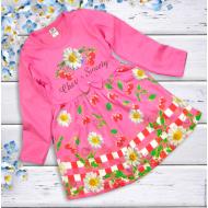 """06-06360 """"Цветочная поляна"""" Платье для девочки, 3-7 лет, розовый"""