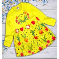 """06-06361 """"Цветочная поляна"""" Платье для девочки, 3-7 лет, желтый"""