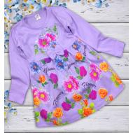 """06-06363 """"Цветочная поляна"""" Платье для девочки, 3-7 лет, сирень"""