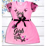"""47-06372 """"Girls Rule"""" Платье для девочки, 2-5 лет, розовый"""
