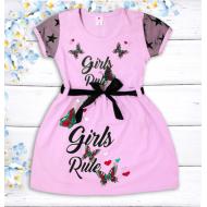"""47-06374 """"Girls Rule"""" Платье для девочки, 2-5 лет, св-розовый"""