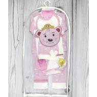 05-4231 Комплект для новорожденных, велюровый розовый