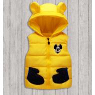 """06-G014 """"Микки"""" Жилет с капюшоном, 1-6 лет, желтый"""