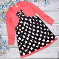 06-060107  Платье для девочки, 3-7 лет, коралл