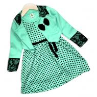 06-0605 Платье с болеро, 3-7 лет, бирюзовый