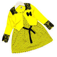 06-0602 Платье с болеро, 3-7 лет, желтый