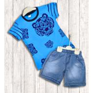 """21-372104 """"Wild Tiger"""" Костюм для мальчика, 3-7 лет, голубой"""