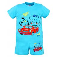 22-142101 Комплект для мальчика, 1-4 года, голубой