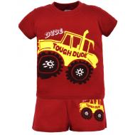 22-142104 Комплект для мальчика, 1-4 года, бордовый