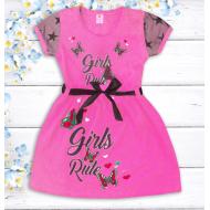 """47-06369 """"Girls Rule"""" Платье для девочки, 2-5 лет, малиновый"""