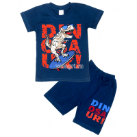 09-142103 Комплект футболка-шорты, 1-4 года, т-синий