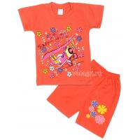 09-142206 Комплект футболка-шорты, 1-4 года, лососевый
