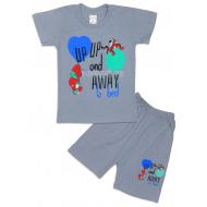 09-142108 Комплект футболка-шорты, 1-4 года, стальной