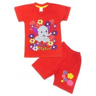 """09-142209 """"Elephant"""" Комплект для девочки, 1-4 года, красный"""