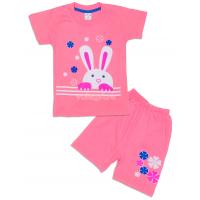 09-142210 Комплект футболка-шорты, 1-4 года, розовый