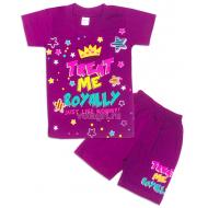 09-142211 Комплект футболка-шорты, 1-4 года, сиреневый