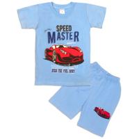 09-142112 Комплект футболка-шорты, 1-4 года, голубой