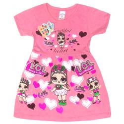 """09-37803 """"LOL"""" Платье для девочки, 3-7 лет, розовый"""