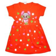 09-37813 Платье для девочки, 3-7 лет, коралловый