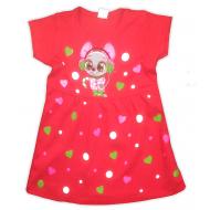 09-37815 Платье для девочки, 3-7 лет, малиновый