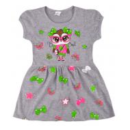 09-37817 Платье для девочки, 3-7 лет, меланж