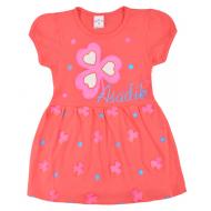 09-37830 Платье для девочки, 3-7 лет, коралловый