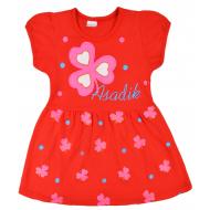 09-37829 Платье для девочки, 3-7 лет, красный