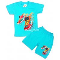 """09-582125 """"Вихрь!"""" комплект футболка-шорты, 5-8 лет, бирюзовый"""