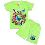 "09-582227 ""Стиль"" комплект футболка-шорты, 5-8 лет"