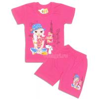"09-582228 ""Парижанка"" комплект футболка-шорты, 5-8 лет"