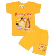 "09-582130 ""Круиз"" комплект футболка-шорты, 5-8 лет, оранжевый"