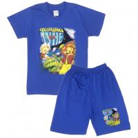 "09-582136 ""На Луне"" Комплект футболка-шорты, 5-8 лет, синий"