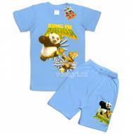 "09-582121 ""Panda"" комплект футболка-шорты, 5-8 лет"