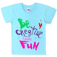 """91302-95 """"BE CREATIVE"""" футболка для девочек 9-13 лет, мятный"""