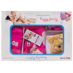 """10-1003 """"Morning"""" Подарочный набор для новорожденных, 5 предметов, малиновый"""