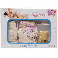 """10-1007 """"Pooh"""" Подарочный набор для новорожденных, 5 предметов, бежевый"""