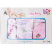 """10-1009 """"Fantasy"""" Подарочный набор для новорожденных, 5 предметов, розовый"""