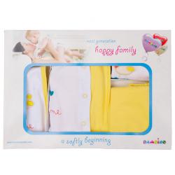 """10-1014 """"Fun"""" Подарочный набор для новорожденных, 5 предметов, желтый"""