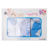 """10-1015 """"Space Baby"""" Подарочный набор для новорожденных, 5 предметов, голубой"""