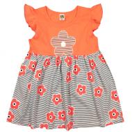 """10-13802 """"Летнее настроение"""" платье для девочки, 1-3 года, персиковый"""