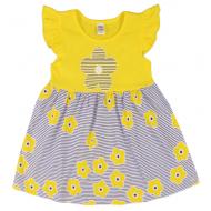 """10-138803 """"Летнее настроение"""" платье для девочки, 1-3 года, желтый"""