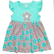"""10-138804 """"Летнее настроение"""" платье для девочки, 1-3 года, ментоловый"""