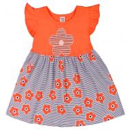 """10-138802 """"Летнее настроение"""" платье для девочки, 1-3 года, персиковый"""
